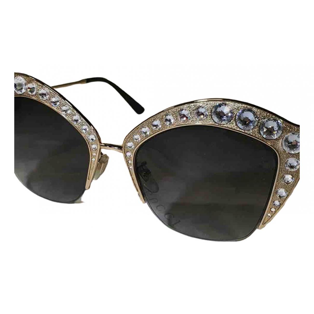 Gucci - Lunettes   pour femme en metal - dore