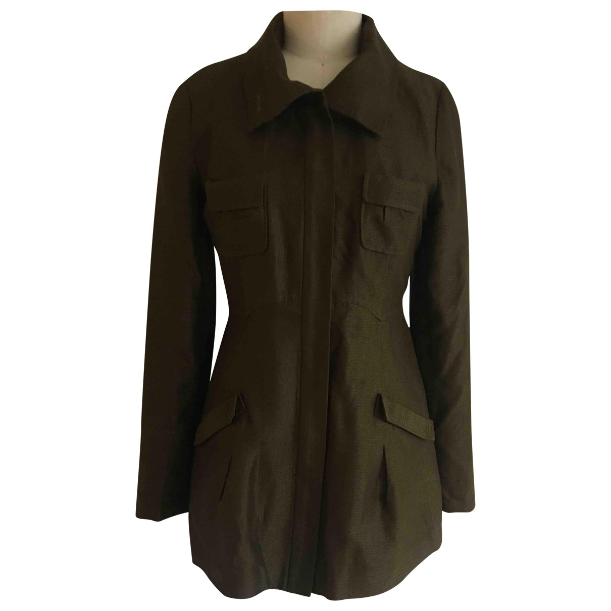 Non Signé / Unsigned \N Green Silk jacket for Women 6 US