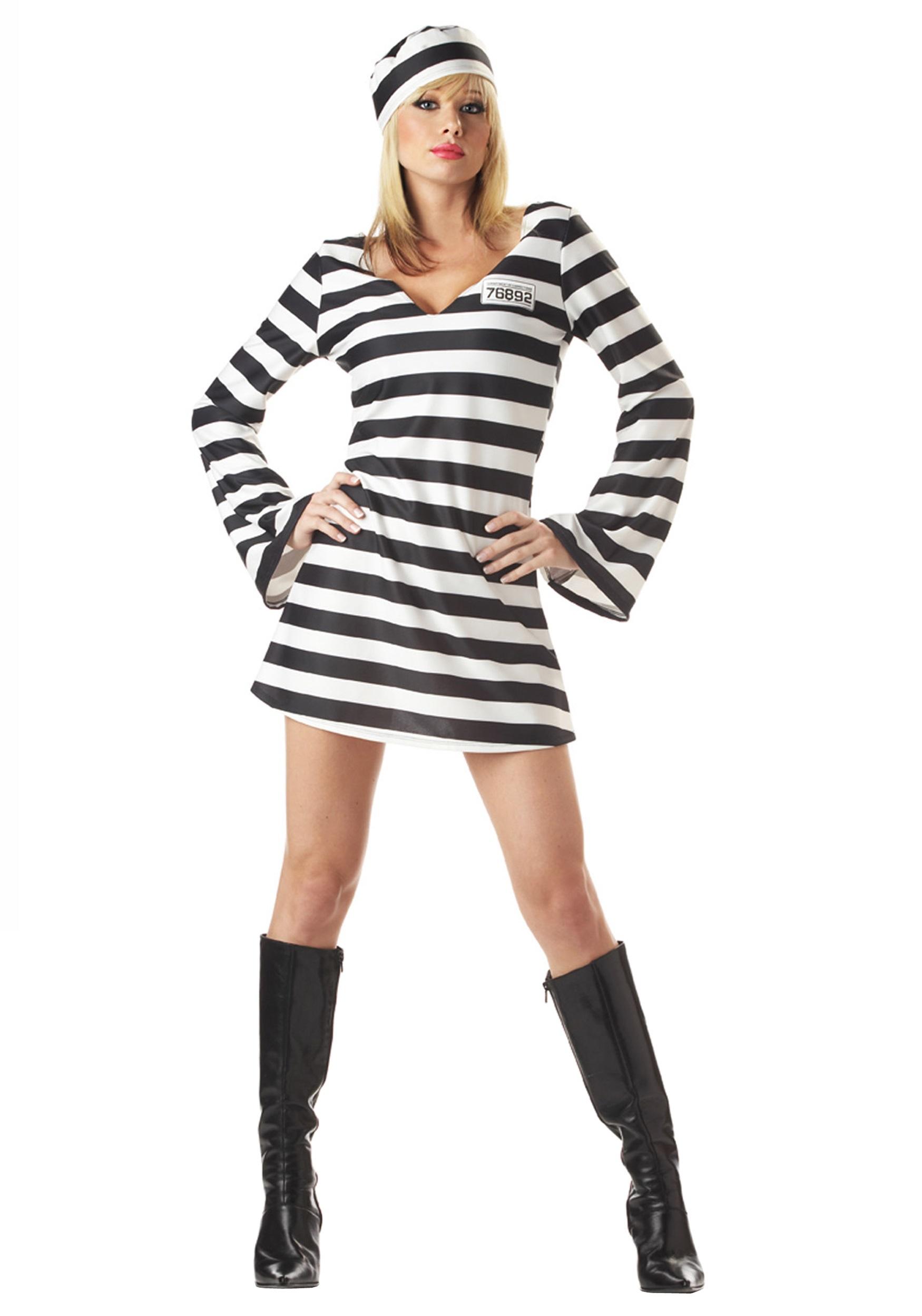 Inmate Prisoner Costume for Women