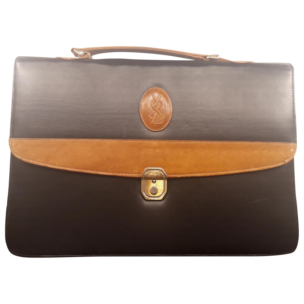 Yves Saint Laurent \N Black Cloth Small bag, wallet & cases for Men \N