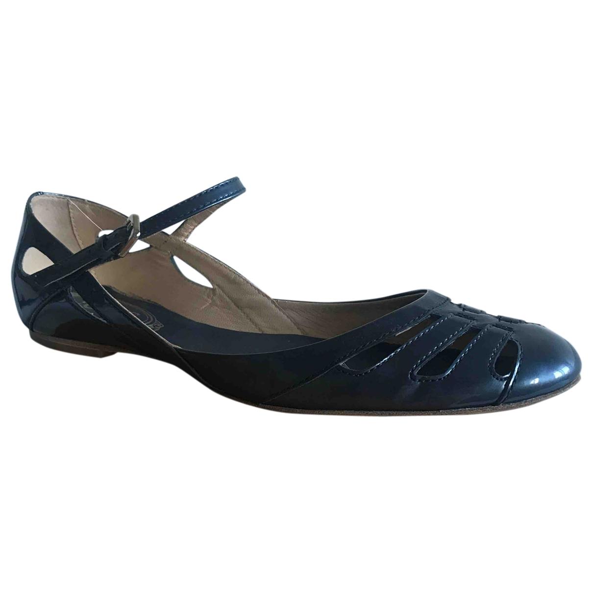 Tods \N Ballerinas in  Blau Leder