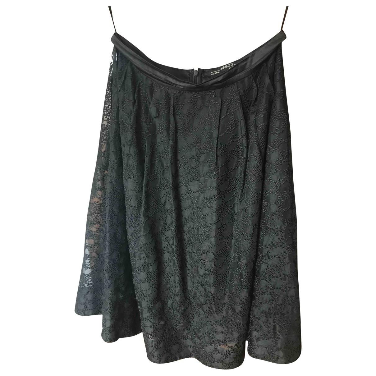 All Saints \N Black Silk skirt for Women 10 UK