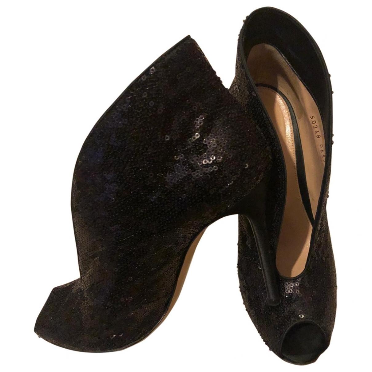 Gianvito Rossi - Boots   pour femme en a paillettes - noir
