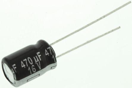 Panasonic 470μF Electrolytic Capacitor 16V dc, Through Hole - ECA1CHG471 (5)