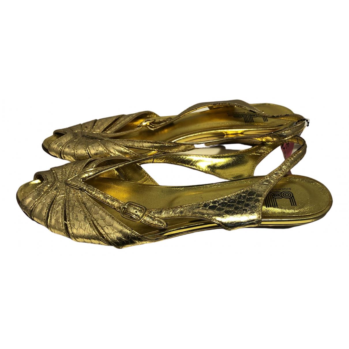 Belle Sigerson Morrison \N Gold Leather Flats for Women 7 US