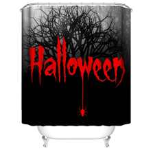 Duschvorhang mit Halloween Buchstaben Grafik