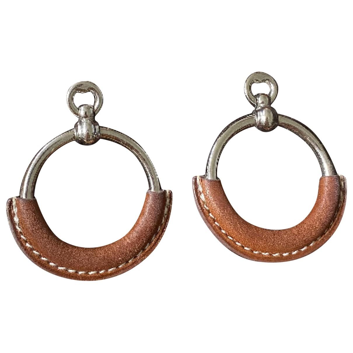 Hermes Loop OhrRing in  Silber Metall