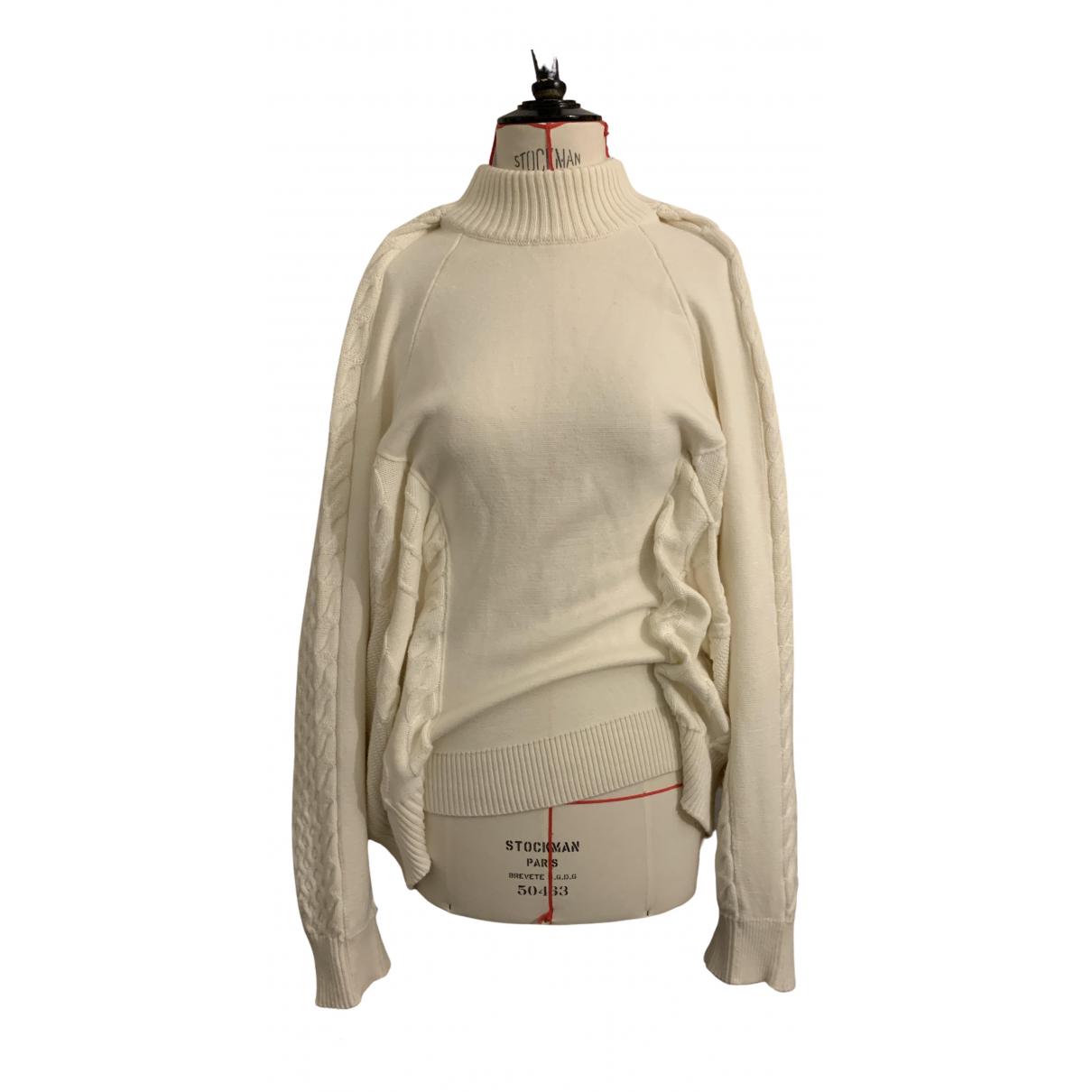 Y/project - Pull   pour femme en laine - ecru