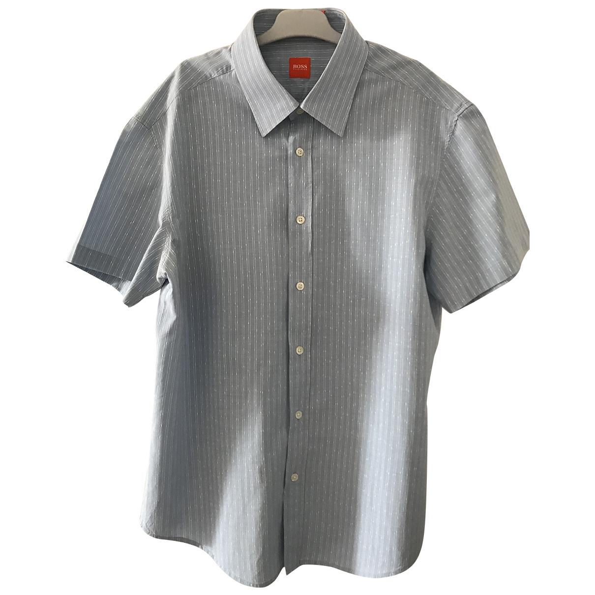 Boss \N Blue Cotton Shirts for Men XL International