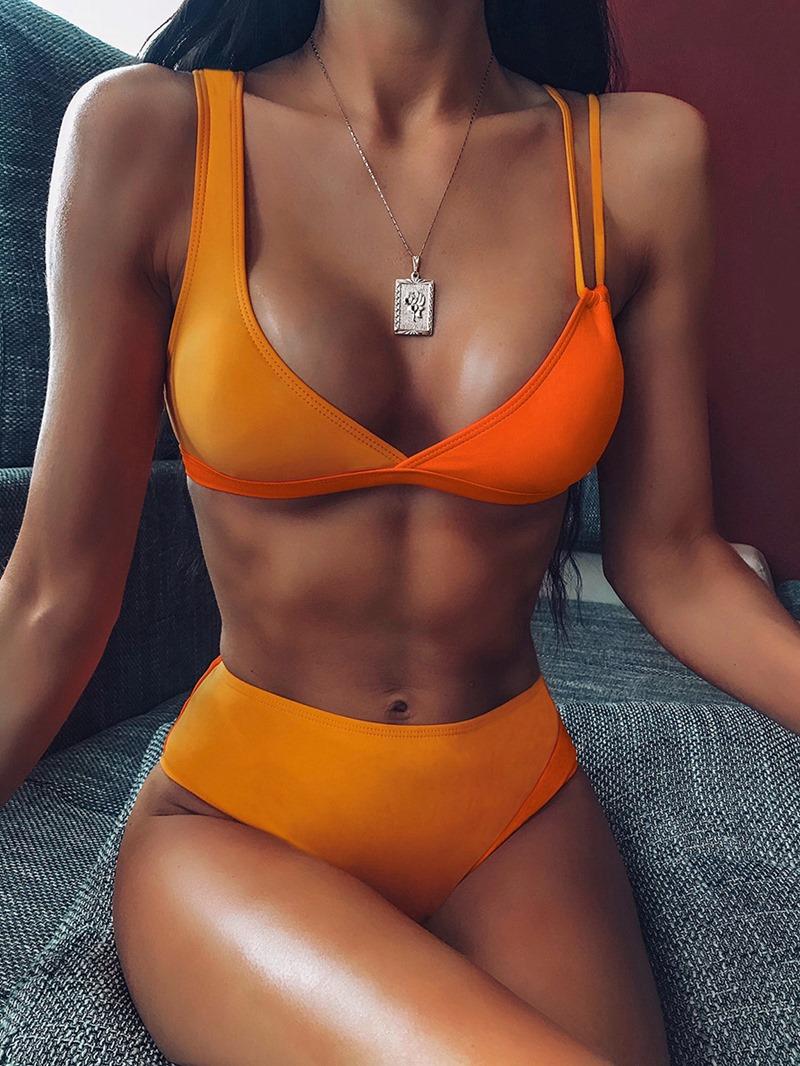 Ericdress Sexy Tankini Set Color Block Swimwear