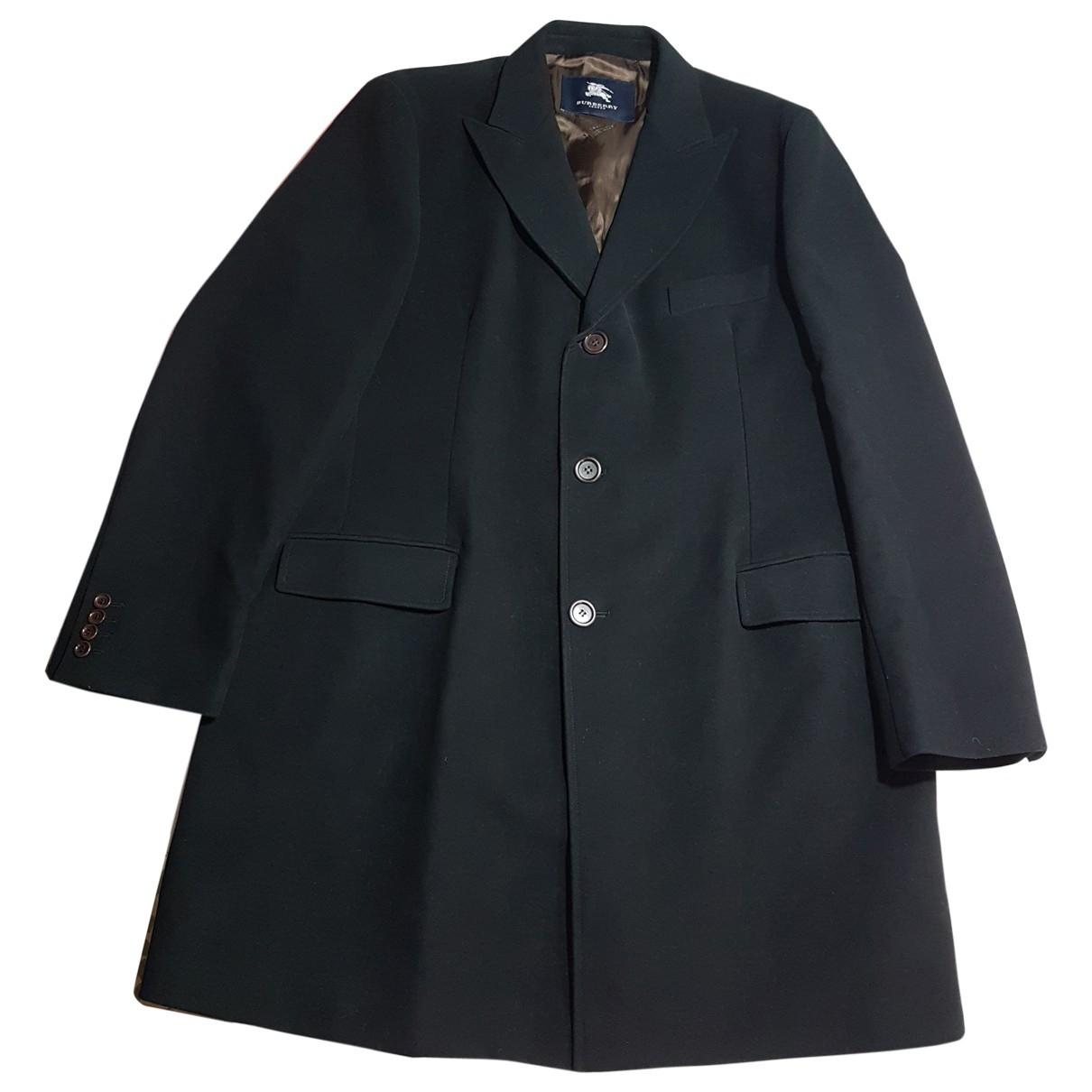 Burberry \N Black Cotton coat  for Men 56 FR