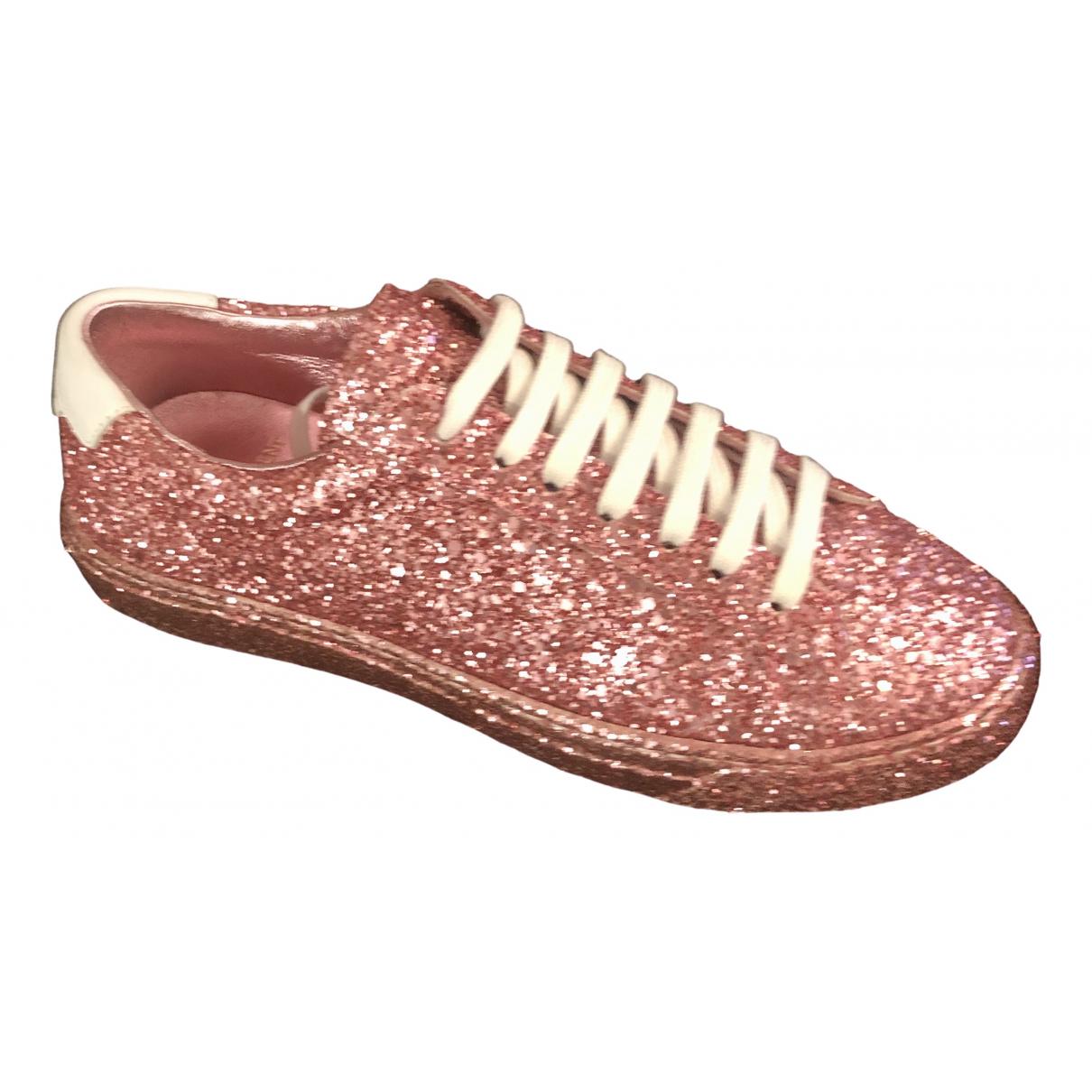 Saint Laurent \N Sneakers in  Rosa Mit Pailletten
