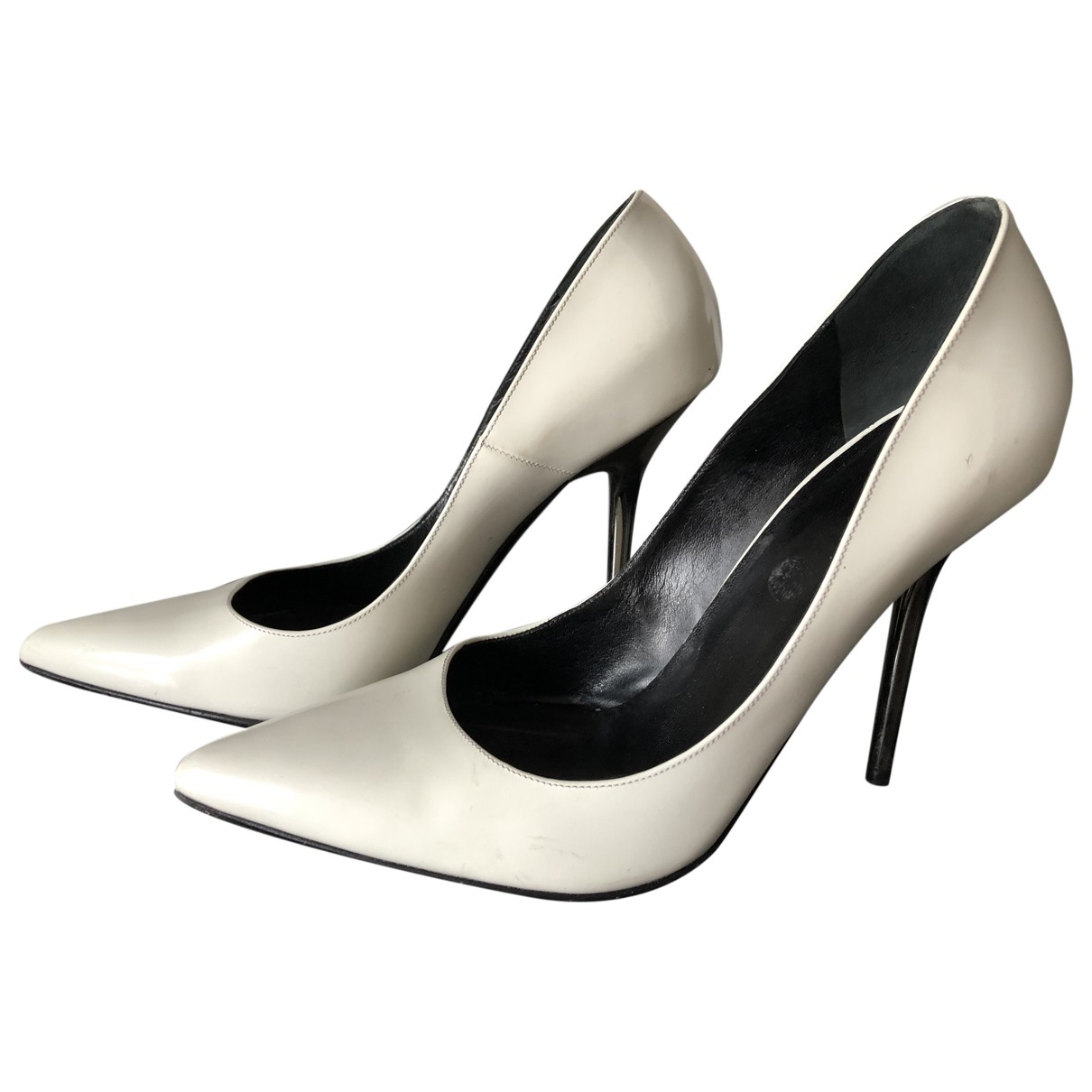 Versace \N White Patent leather Heels for Women 39 EU