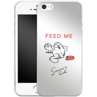 Apple iPhone 5 Silikon Handyhuelle - Feed Me von Simons Cat