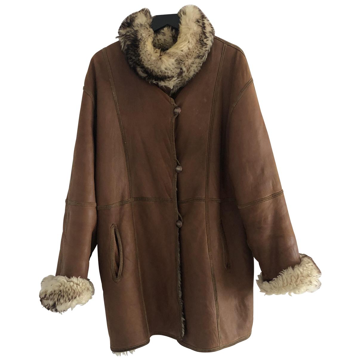 - Manteau   pour femme en mouton - camel