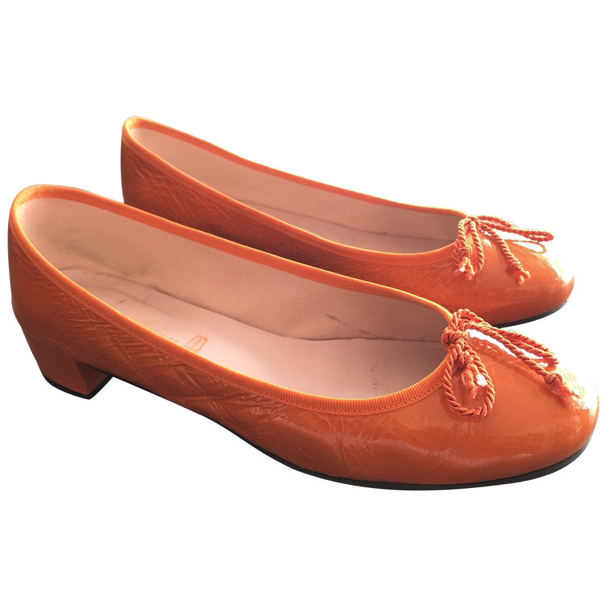 Pretty Ballerinas \N Orange Patent leather Ballet flats for Women 40 EU