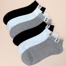 6 Paare Maenner Socken mit Figur Muster