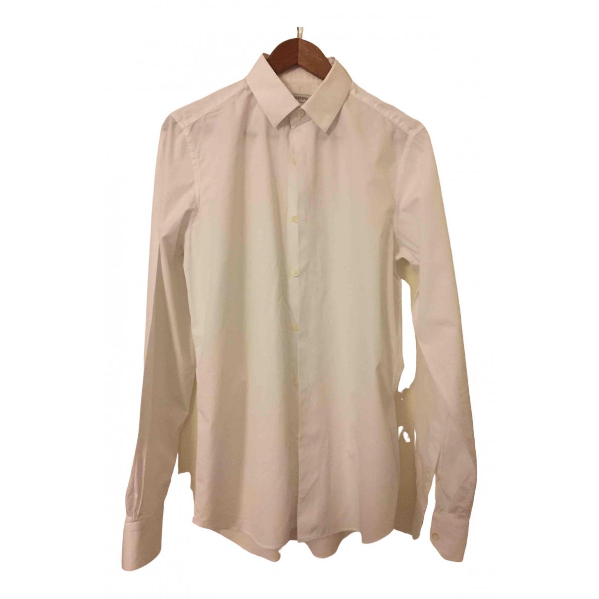 Valentino Garavani \N White Cotton Shirts for Men 39 EU (tour de cou / collar)