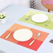 1 Stueck Zufaellige Farbe Tischset mit Farbblock
