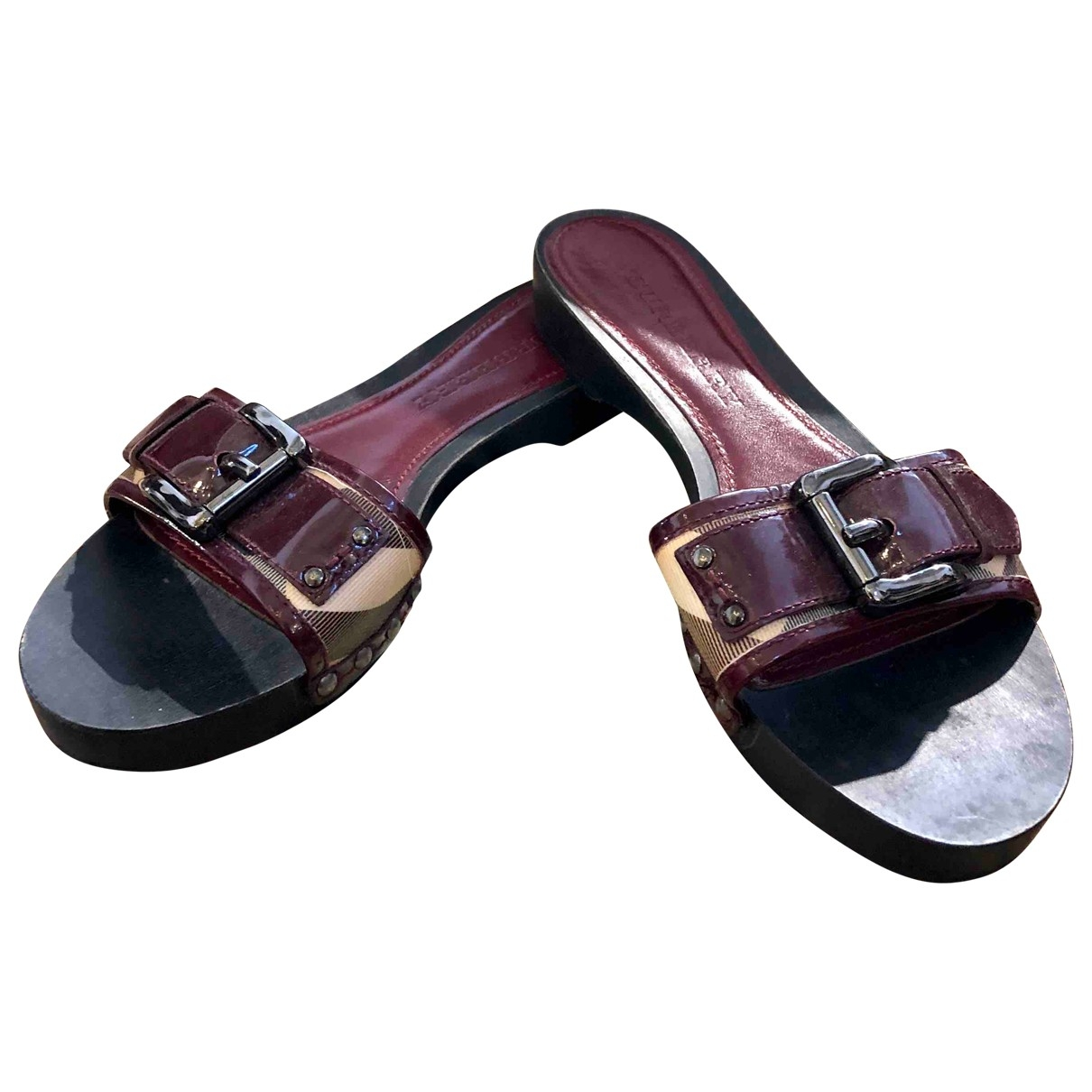 Burberry \N Purple Patent leather Sandals for Women 38.5 EU