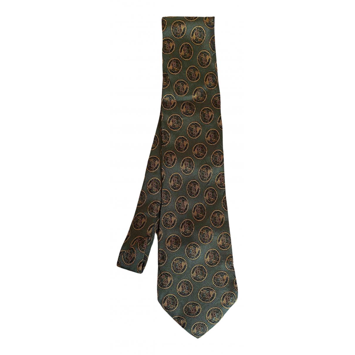 Moschino \N Krawatten in  Khaki Seide