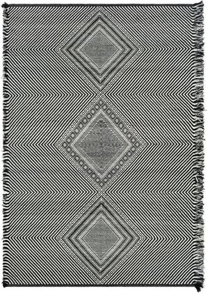 ZNF2302-35 3' x 5' Rug  in Black and