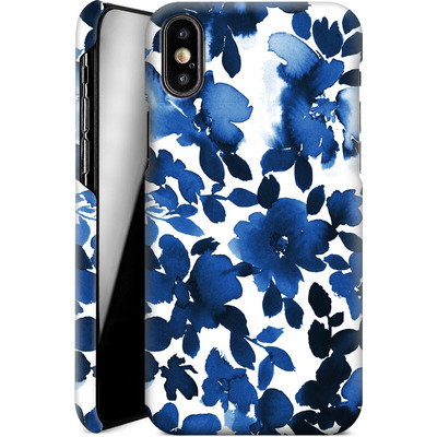 Apple iPhone X Smartphone Huelle - Sophia Blue Floral von Amy Sia