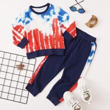 Toddler Boys Tie Dye Sweatshirt & Sweatpants