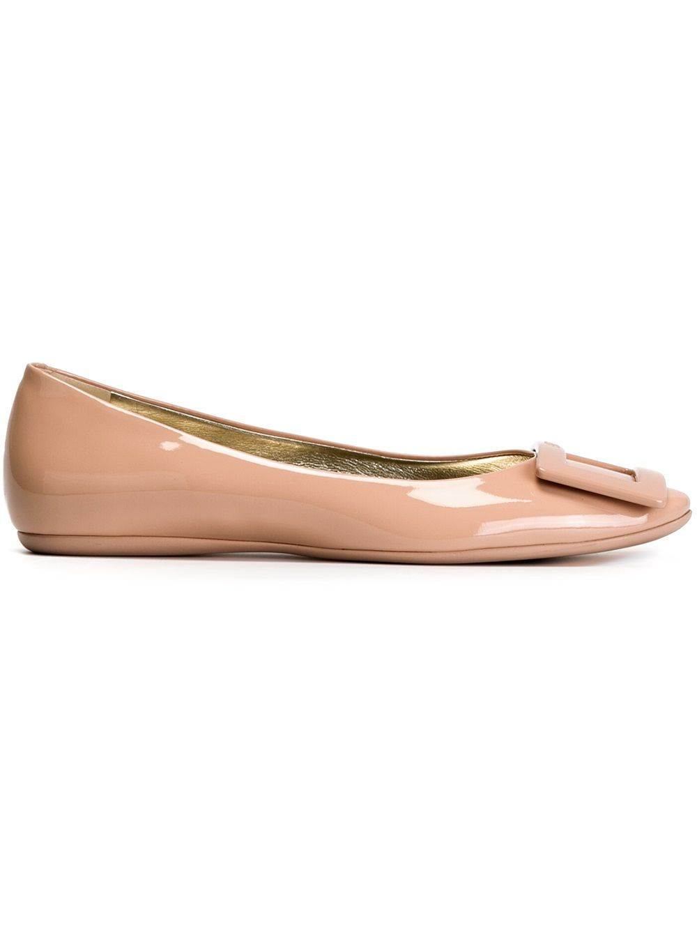 Gommette Leather Ballet Flats