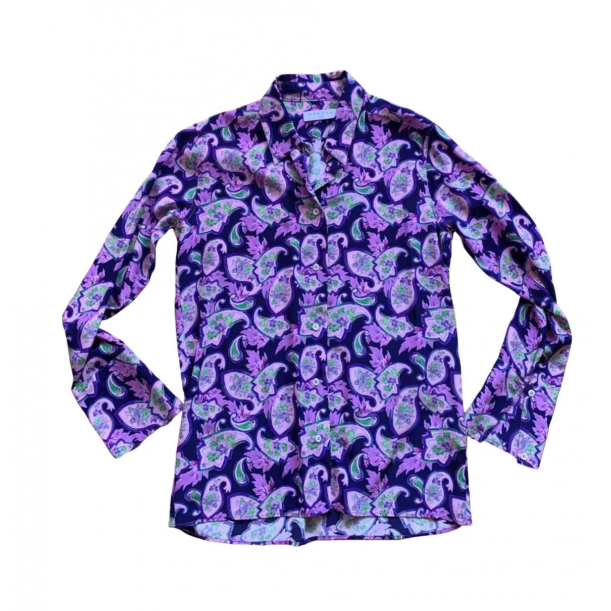 Sandro - Top Spring Summer 2019 pour femme en soie - violet