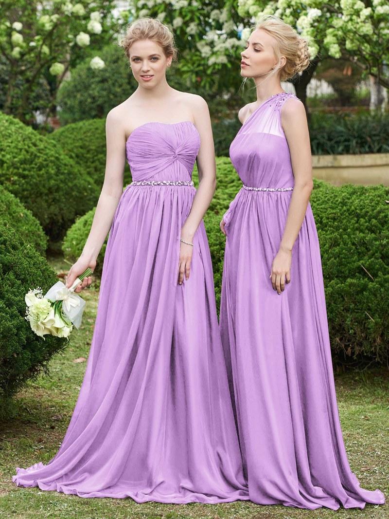 Ericdress Beaded Strapless Long Bridesmaid Dress