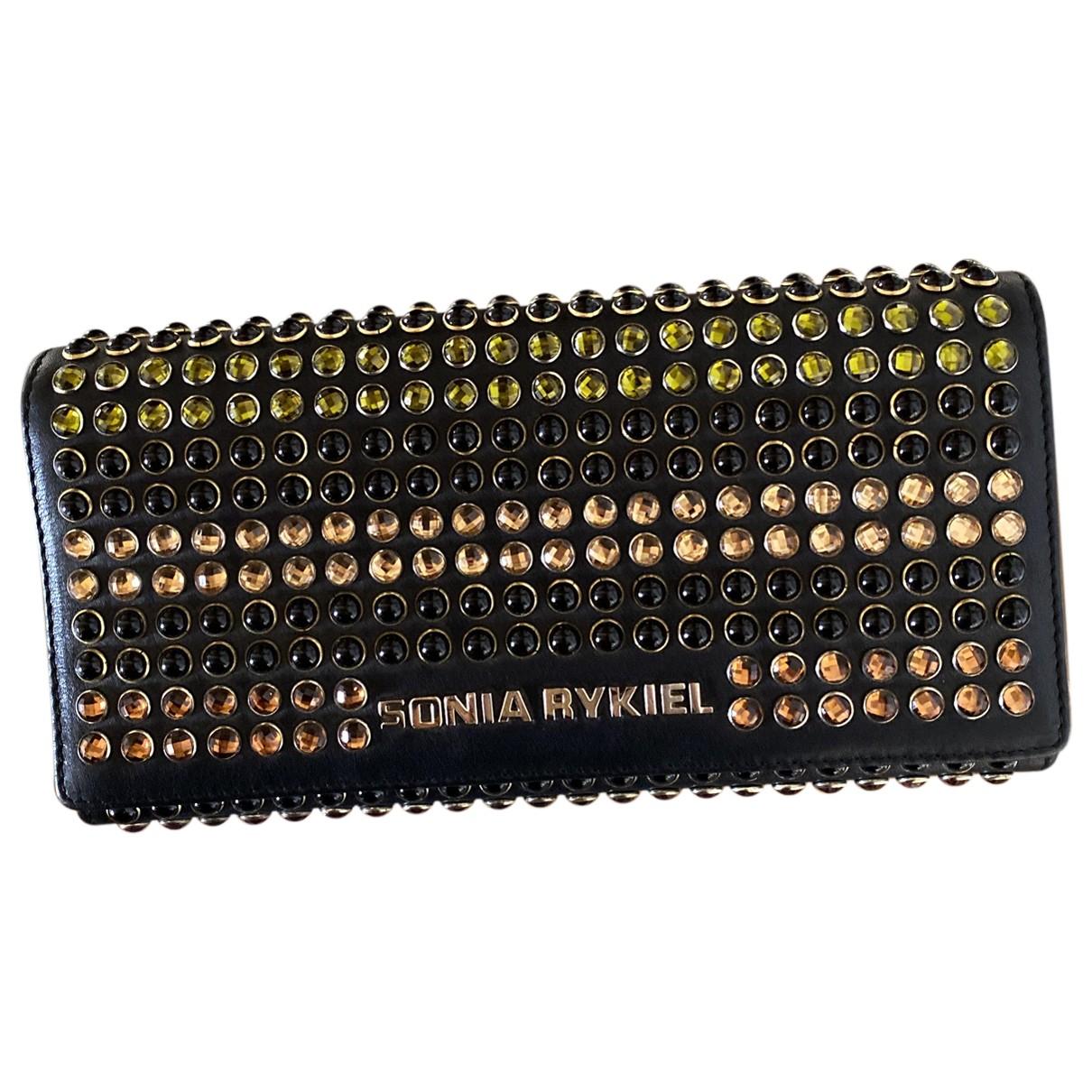 Sonia Rykiel - Portefeuille   pour femme en cuir - noir