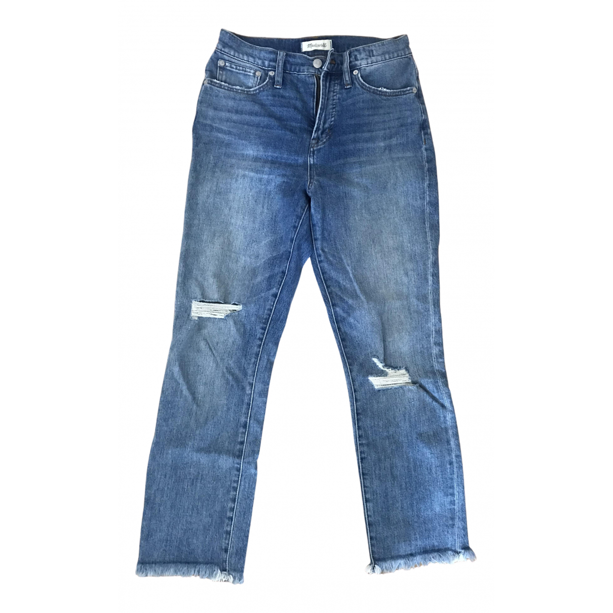 Madewell N Blue Cotton - elasthane Jeans for Women 26 US