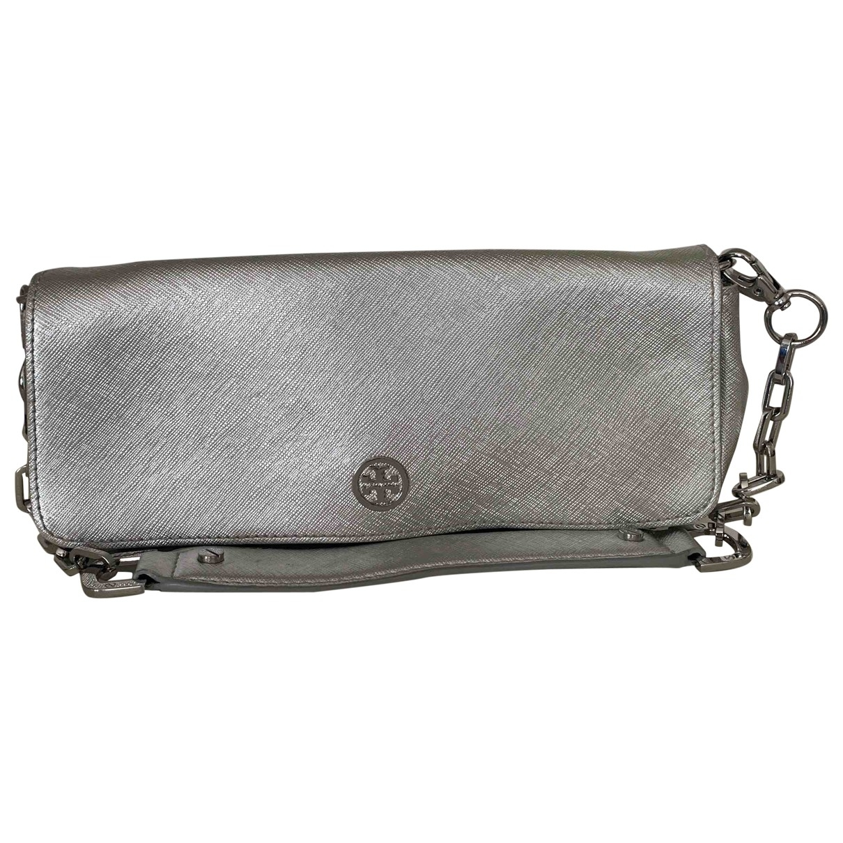 Tory Burch \N Clutch in  Silber Leder