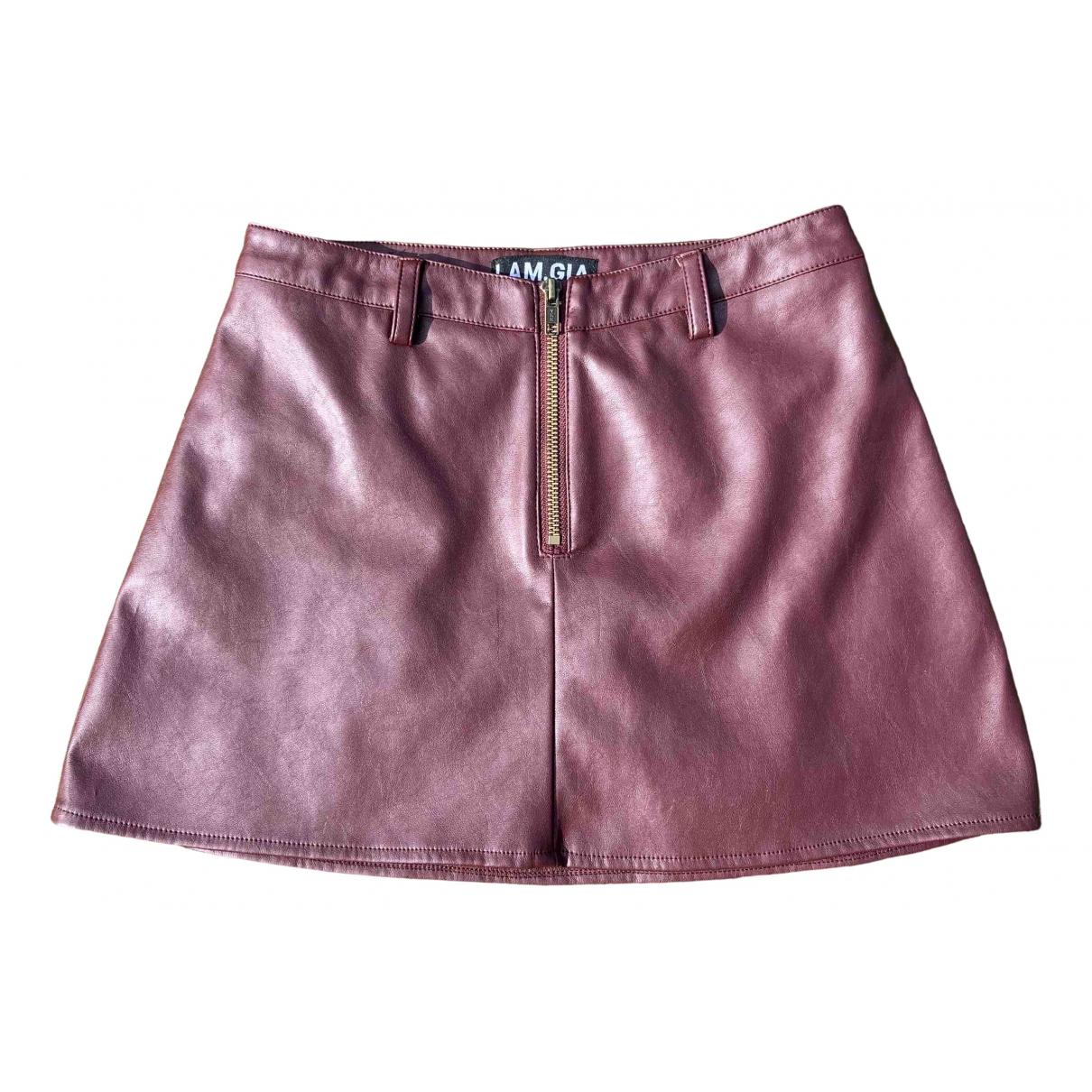 Mini falda de Cuero I.am.gia