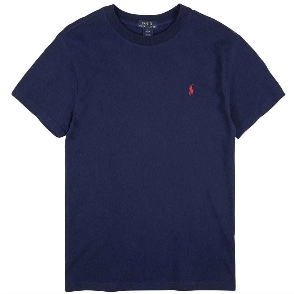 Ralph Lauren Kids Logo T-Shirt Navy Colour: NAVY, Size: 18-20 YEARS