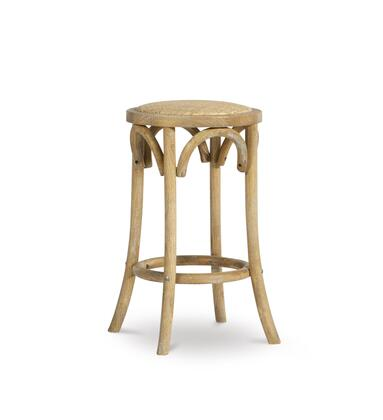 CS153RATT01U Rae Collection Counter Height Stool with Rounded Backless Seat  Rustic Style and Elm Wood Frame in Brown