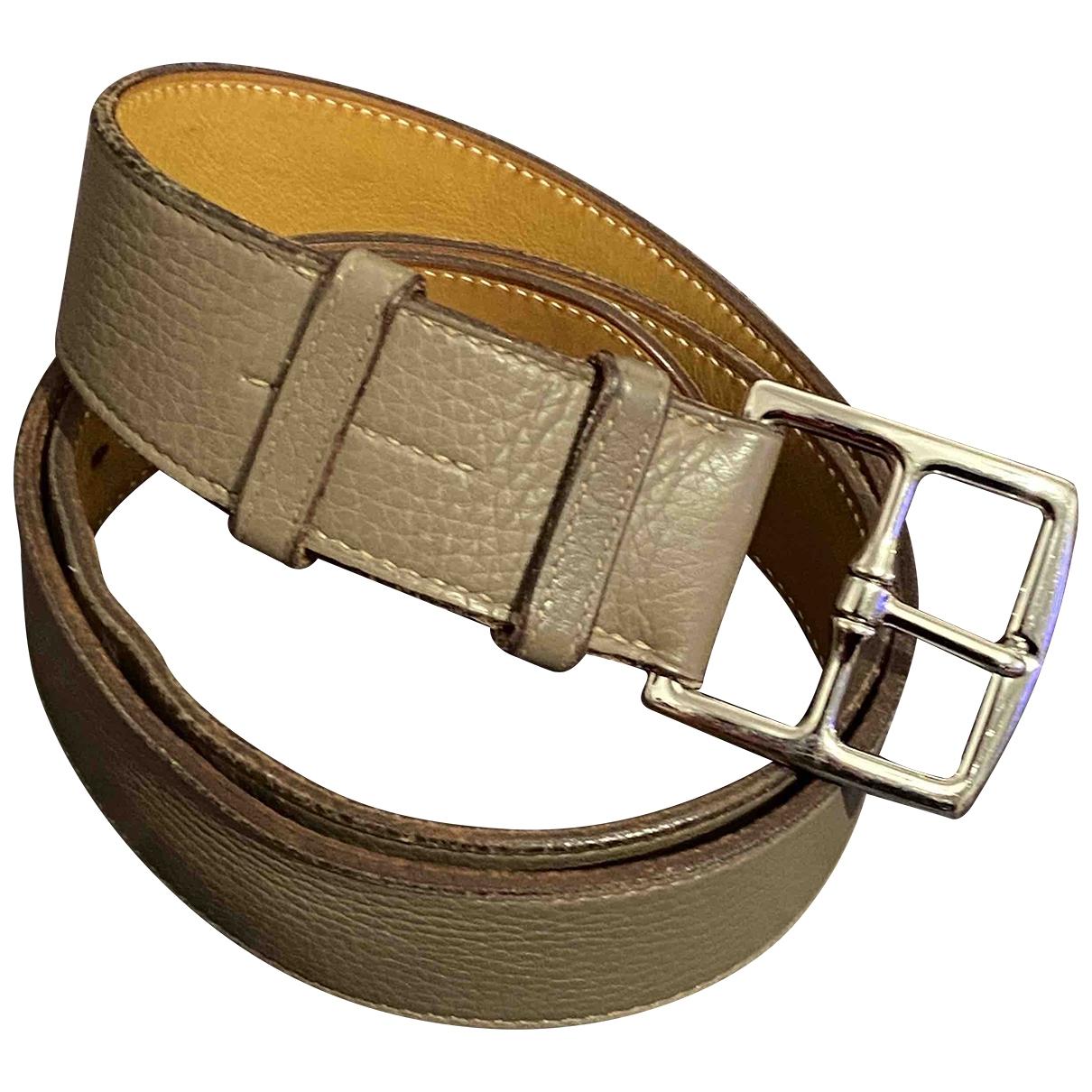 Hermès Etrivière Brown Leather belt for Women 90 cm