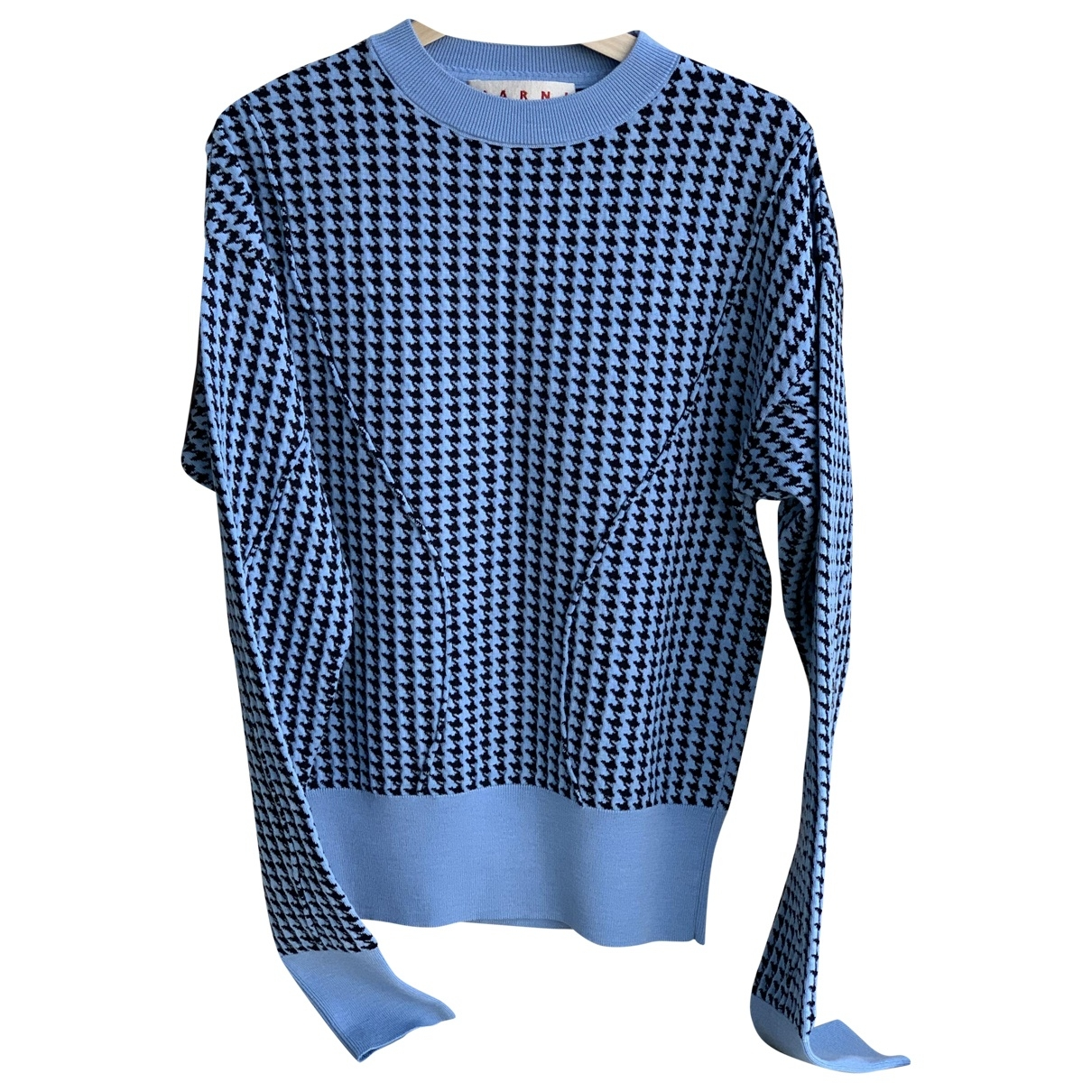 Marni - Pull   pour femme en coton - bleu