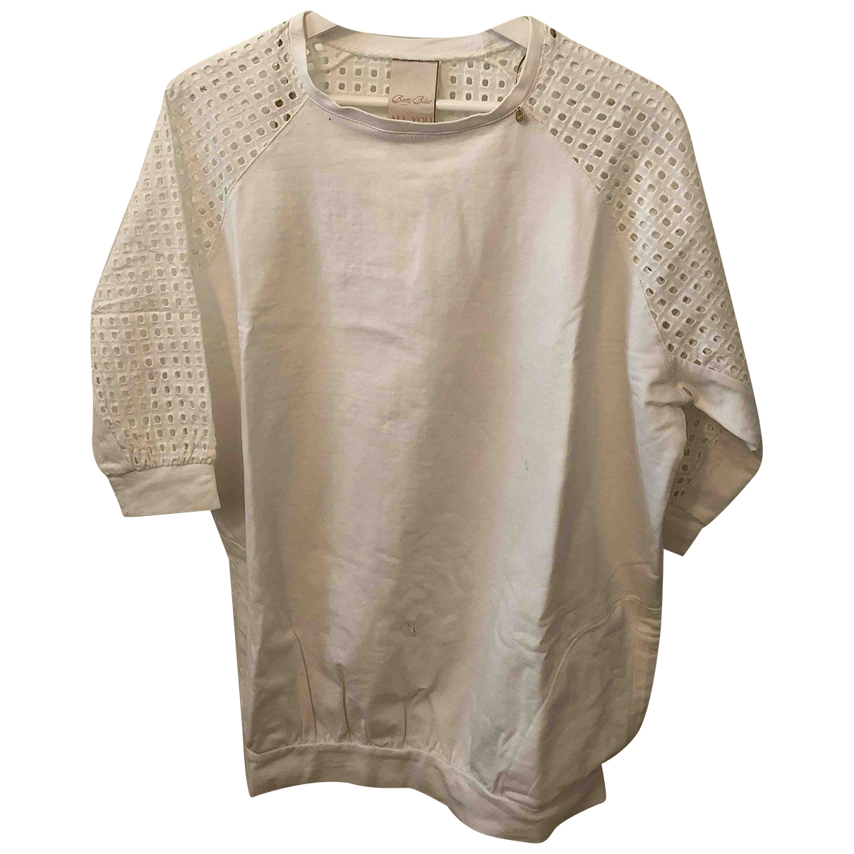 Elisabetta Franchi \N White Cotton Knitwear for Women 38 IT