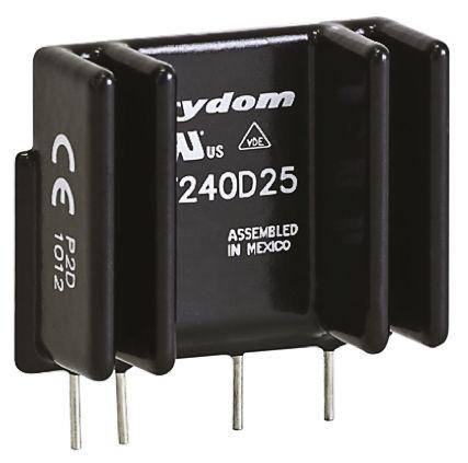 Sensata / Crydom 25 A rms Solid State Relay, Zero Cross, PCB Mount, SCR, 530 V rms Maximum Load