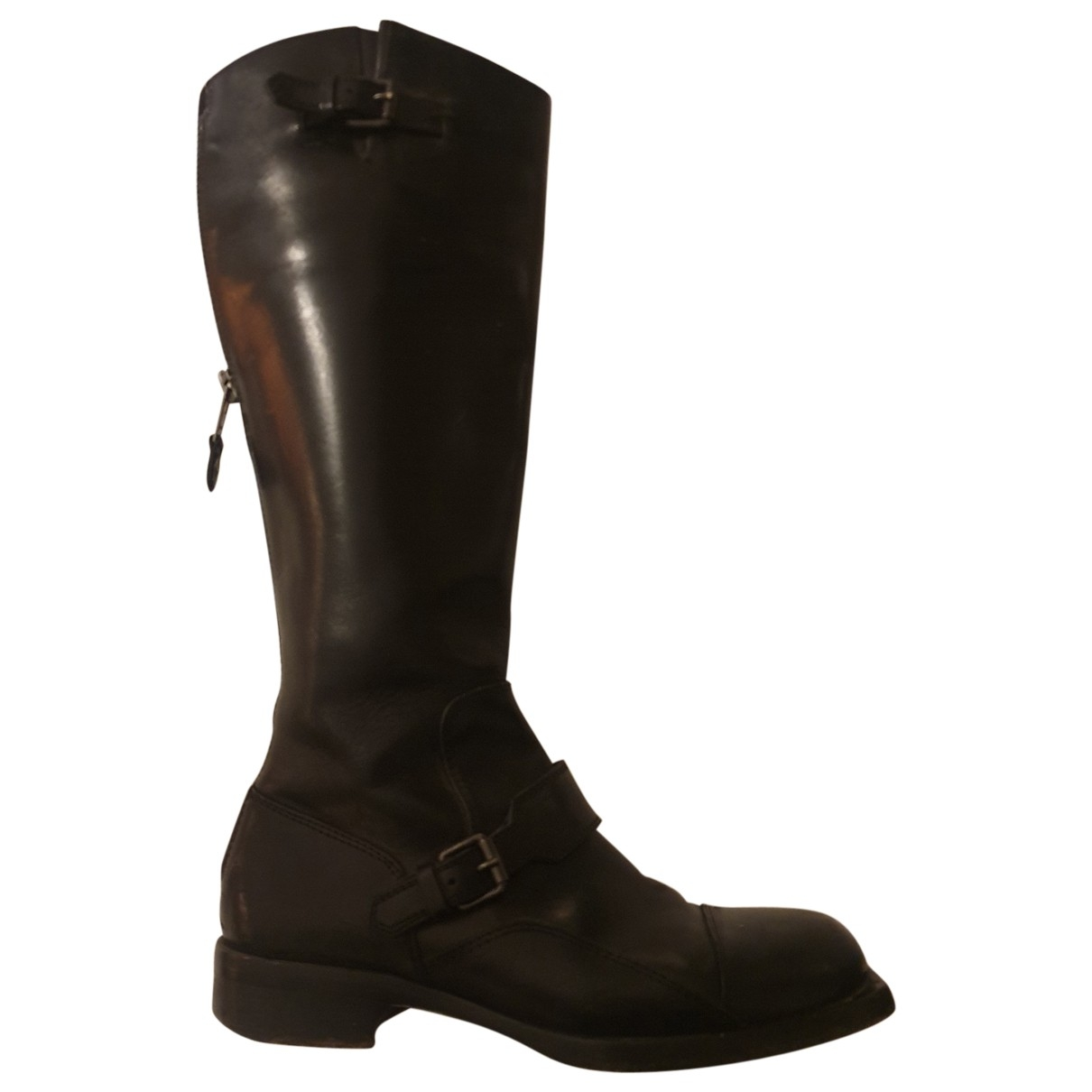 Diesel Black Gold \N Black Leather Boots for Women 38 EU