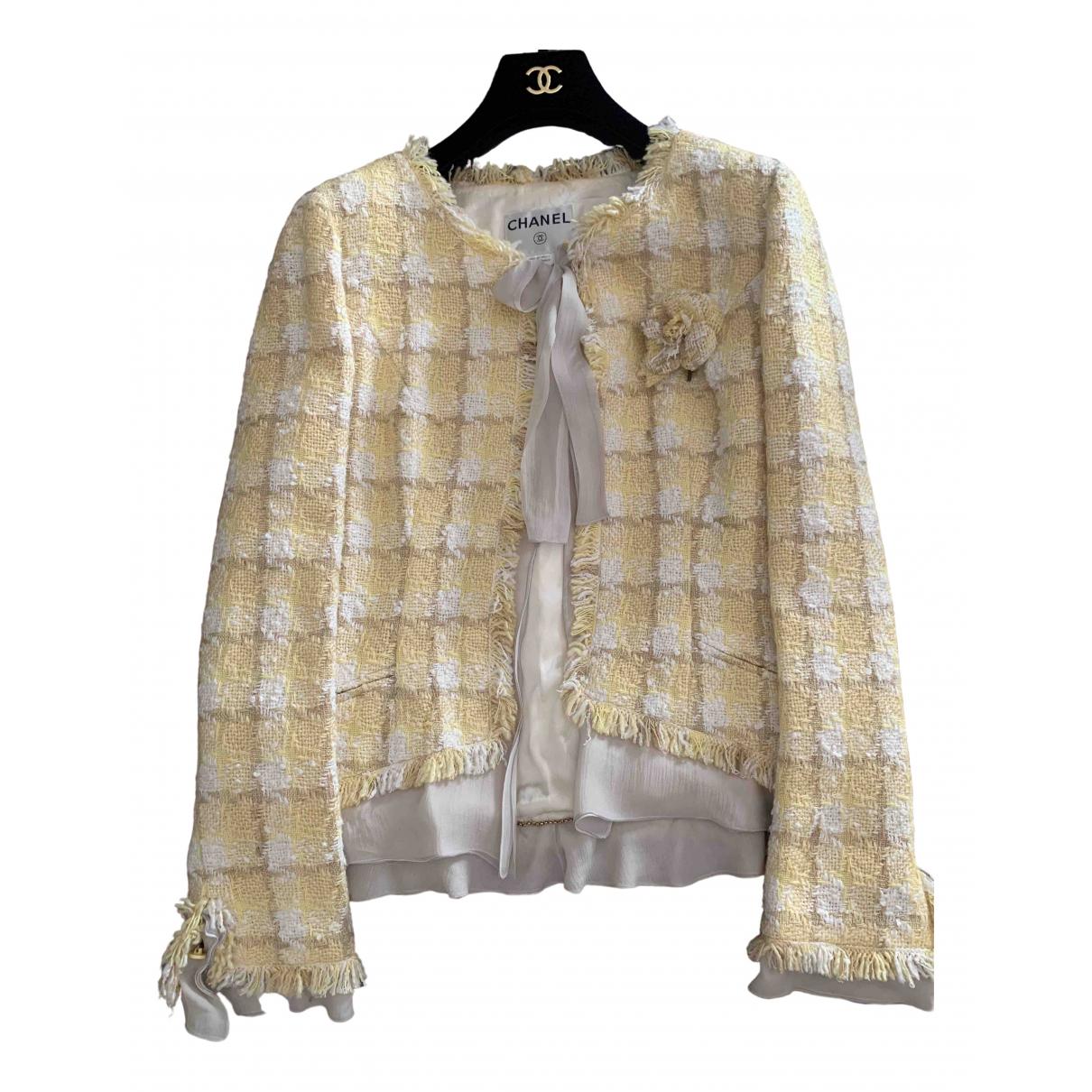 Chanel - Veste   pour femme - jaune
