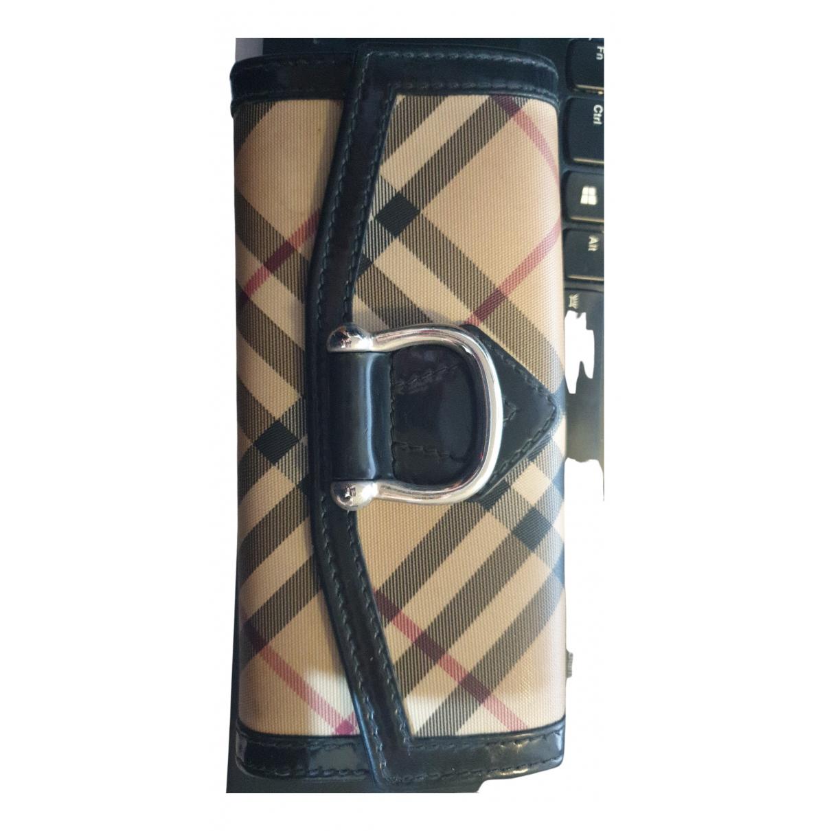 Burberry - Portefeuille   pour femme en cuir verni - multicolore