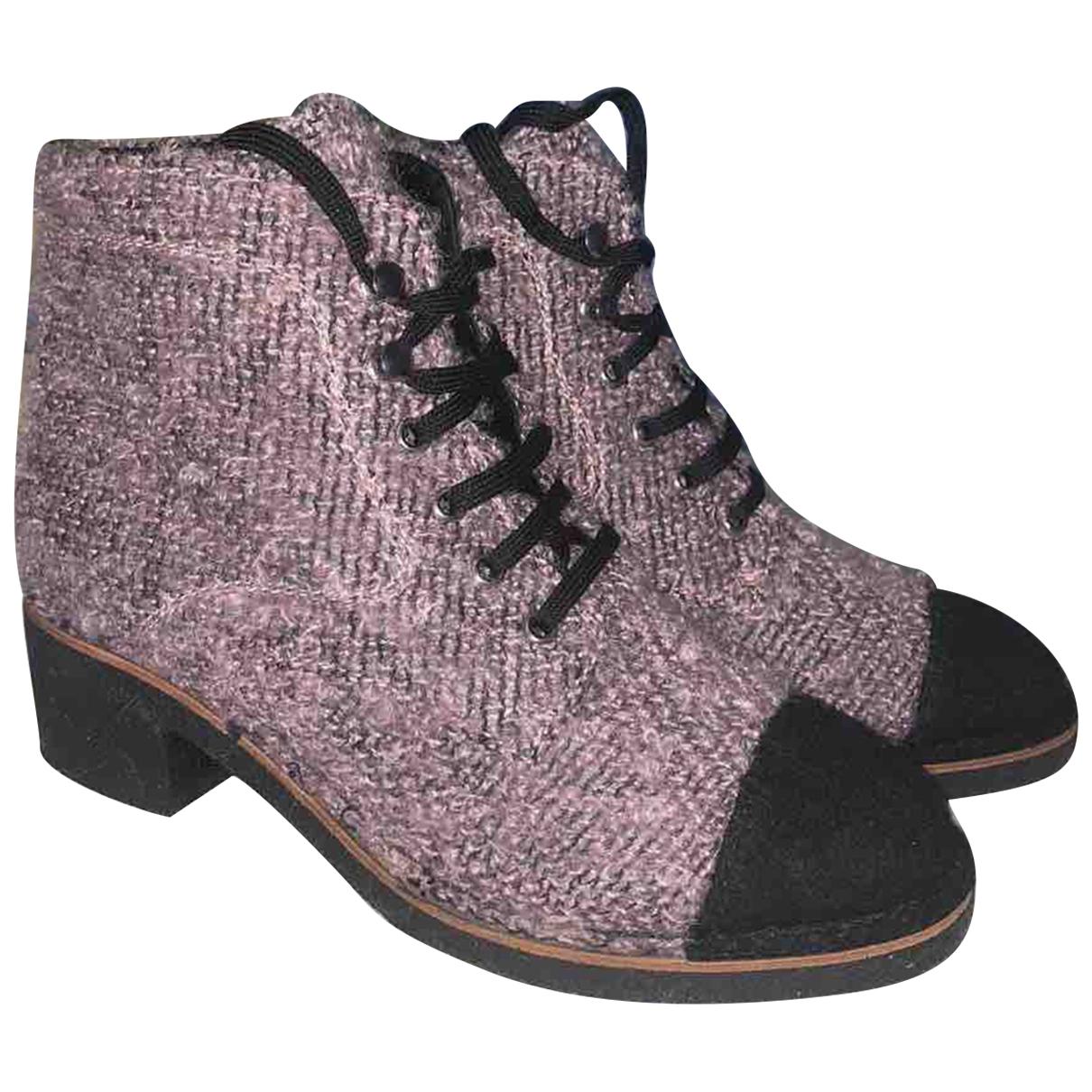 Chanel \N Stiefeletten in  Grau Tweed