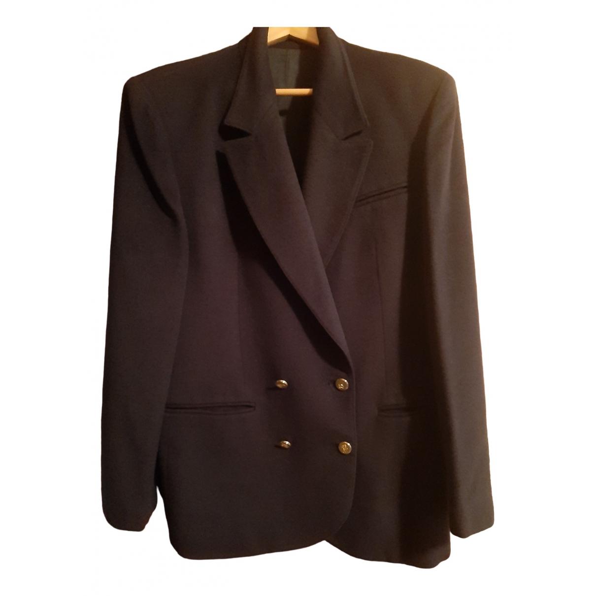 Burberry \N Navy Wool jacket for Women 48 FR