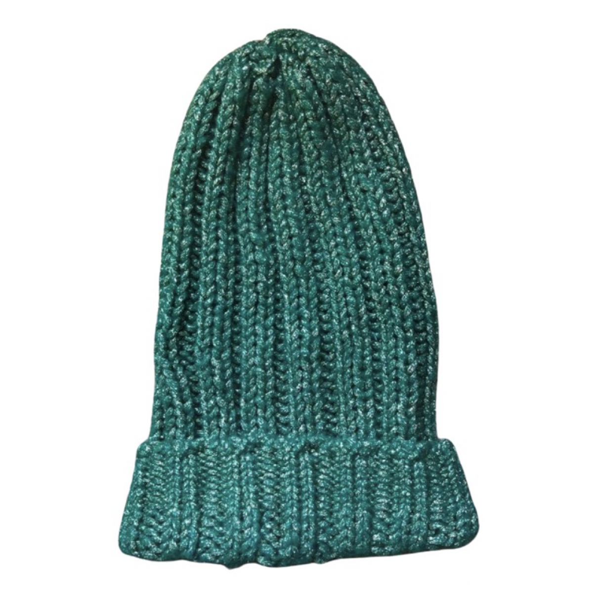 Essentiel Antwerp - Chapeau   pour femme en a paillettes - vert