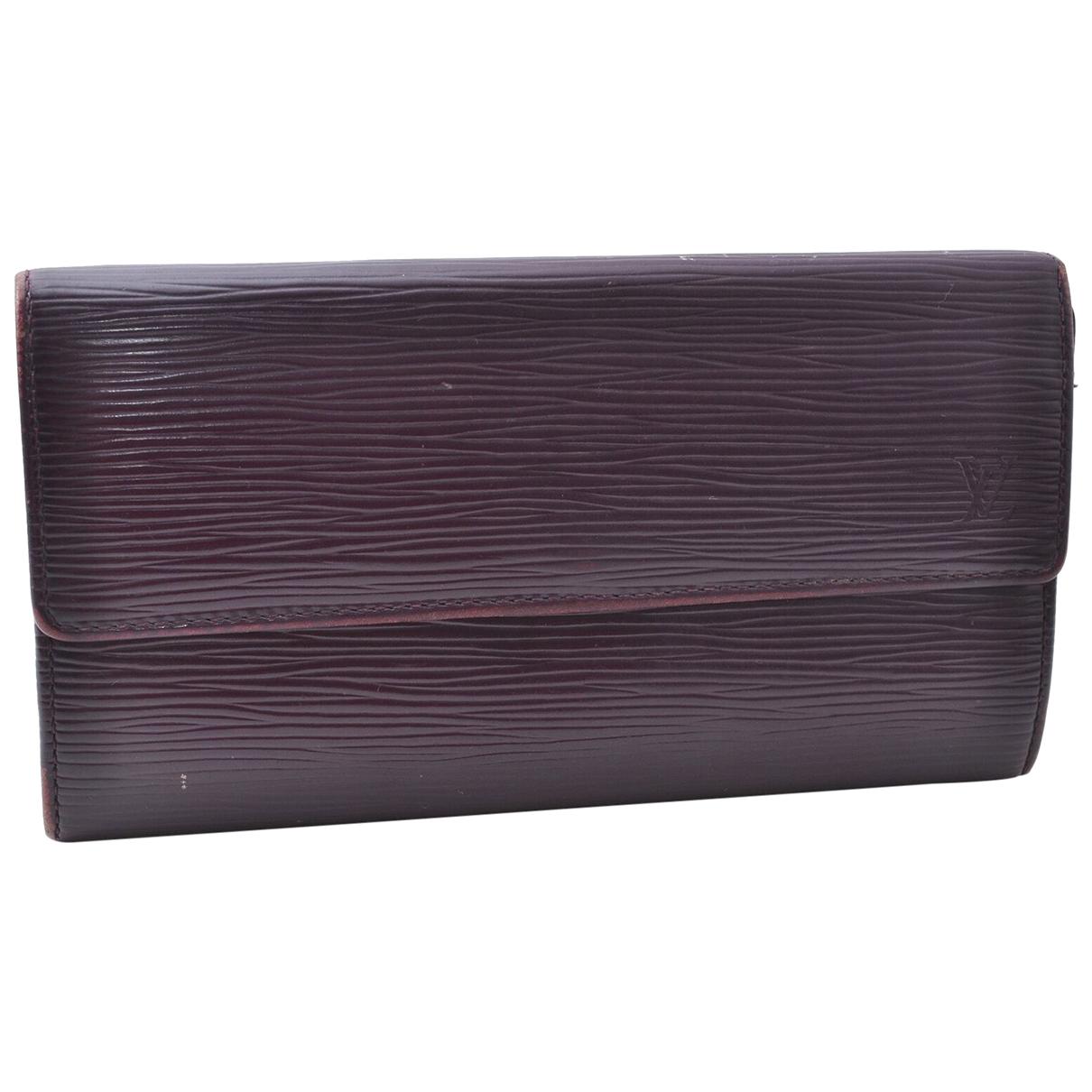 Louis Vuitton - Portefeuille Sarah pour femme en cuir - violet