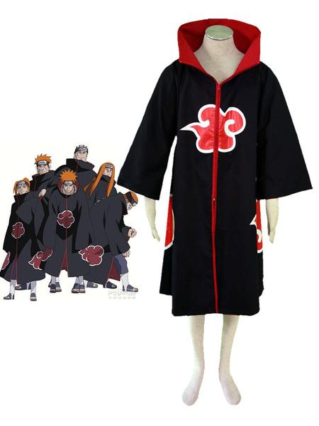 Milanoo Halloween Disfraz Carnaval Naruto Akatsuki Cloak Disfraz de Halloween Cosplay Carnaval