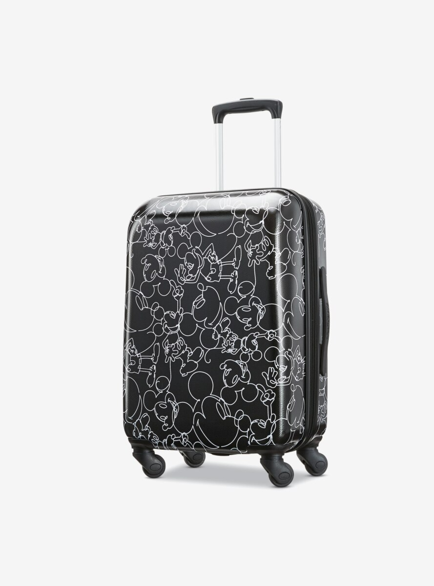 Disney Mickey Mouse Scribbler Multiface Carry On Spinner Hardside Luggage